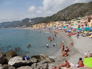 Before it cooled off, we relished one final day at the beach in Liguria