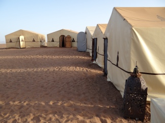 In our Berber camp on the desert Dunes
