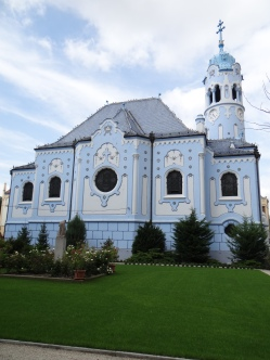 The unique Blue Church (Church of St Elizabeth)