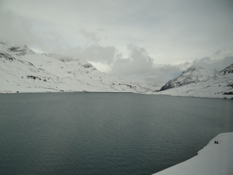 Lago Bianco sits high at 2,253m and is the highest point on the ride.