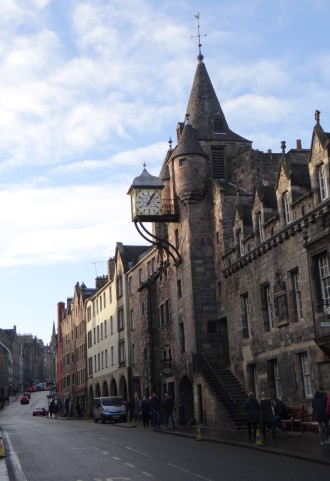 Shops along the Royal Mile