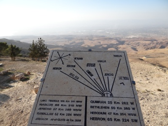 From the top of Mt. Nebo, you can see several ancient cities.
